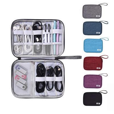 Polyester Digital Storage Bag  Portable Travel Cable Bag