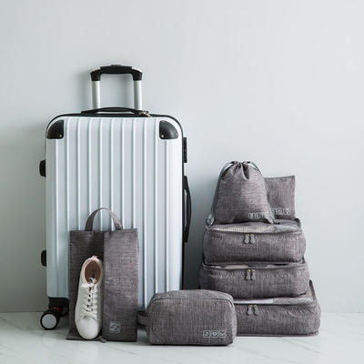 Polyester Storage Bag  7pcs Clothes Luggage Packing Organizer Bag