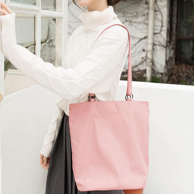 Shopping Tote Bag With Zippered Pocket  Reusable Grocery Bag For Lady Women