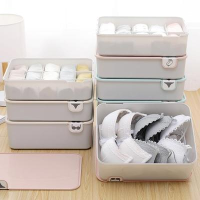 Underwear Storage Box Home Clothes Drawer Organizer With Cover For Socks Bra Toys