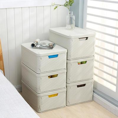 Home Storage Box Bedroom Pp Plastic Folding Organizer Stackable Storage Box With Lid